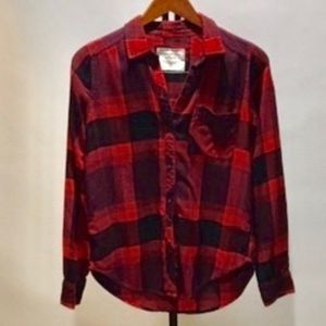 Abercrombie & Fitch Womens plaid shirt